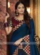 Dark Blue Satin Silk Saree