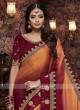 Wedding Satin Silk Shaded Saree