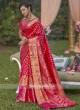 Pure Silk Woven Checks Pattern Saree