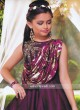 Layered Gown in Satin Silk