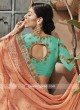 Chiffon Heavy Work Saree with Sky Blue Blouse