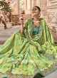 Green and Yellow Checks Saree