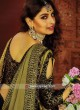 Golden and Black Half n Half Saree