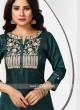 Rayon Silk Pearl Work Palazzo Suit