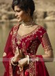 Golden Cream And Red Bridal Lehenga Choli