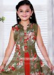 Cotton Silk Printed Jacket Style Suit for Girls