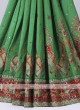 Gharchola Silk saree in green and maroon color