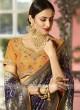 Banarasi Silk Wedding Saree in Dark Blue