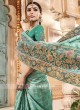 Pita and Sequins Work Saree with Blouse