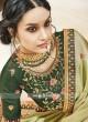 Pista Green Designer Saree