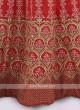 Silk Lehenga Choli In Gajari Pink