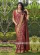 Wedding Weaving Saree in Maroon