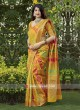 Mustard Yellow Weaving Saree