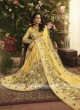 Art Silk and Net Yellow Saree