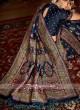 Banarasi Silk Saree In Navy Color
