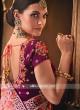 Pink Saree with Magenta Blouse