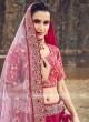 Raw Silk Bridal Lehenga Choli
