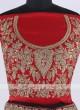 Bridal Silk Lehenga Choli In Red Color