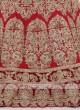 Silk Lehenga Choli In Red Color