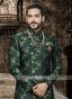 Attractive Green Indo Western