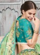 Brocade and Raw Silk Heavy Lehenga Set