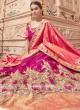 Heavy Embroidered Festive Lehenga in Deep Pink