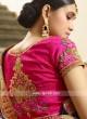 Art Silk Embroidered Saree in Purple