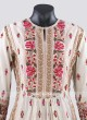 Silk Palazzo Salwar Suit in Cream