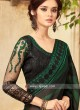 Dark Green and Black Party Wear Saree
