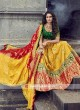 Red, yellow and green lehenga choli