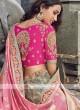 Slate grey and pink lehenga choli