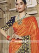 Orange saree with blouse