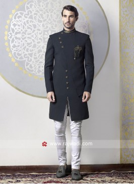 Charming Jute Silk Fabric Indo Western