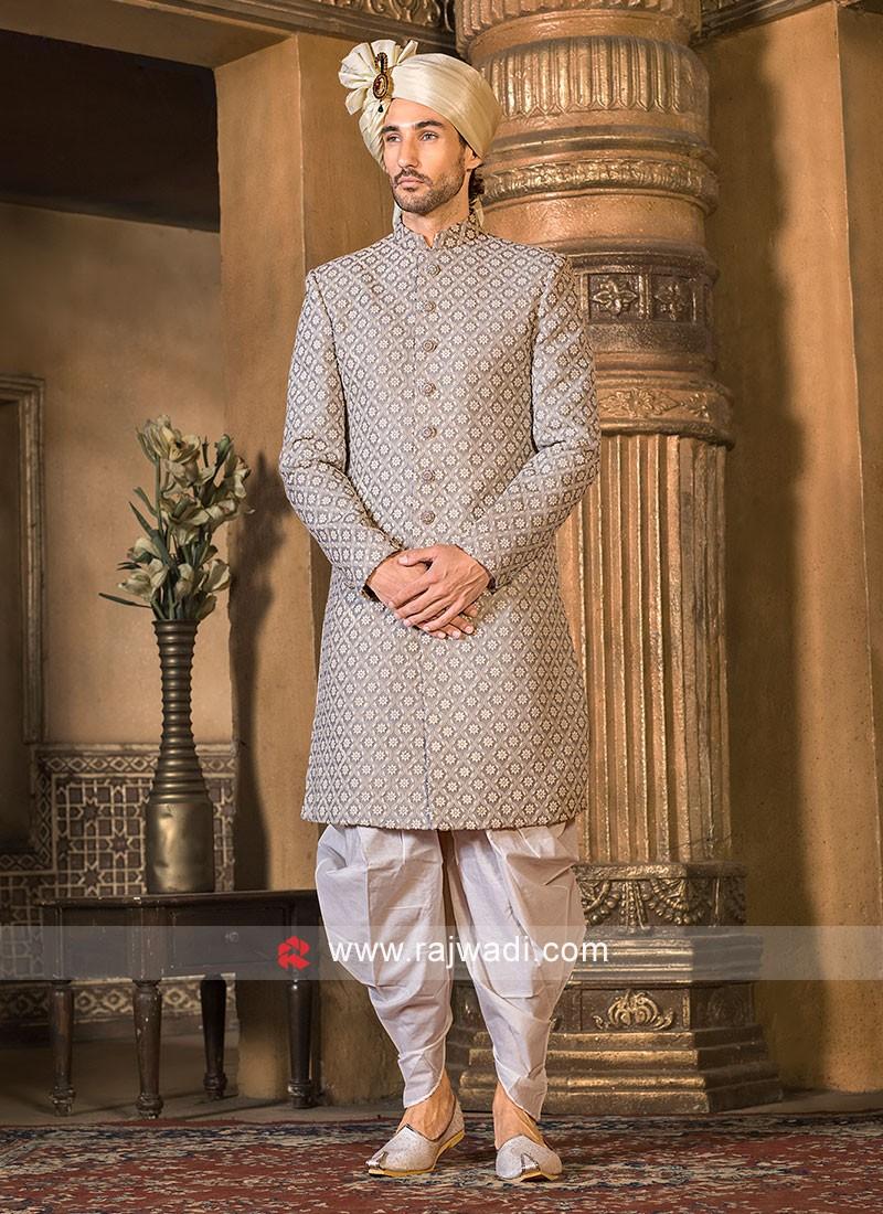Grey Color Indo Western
