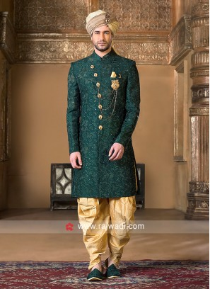 Marvelous Green Color Indo Western