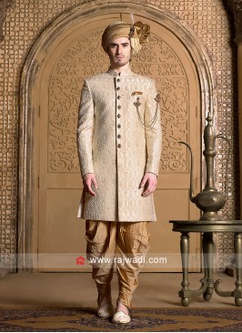 Brocade Silk Fabric Indo Western