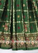Green color gajji silk gharchola saree