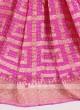 Pink color chiffon saree