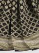 Black color chiffon saree with blouse