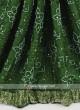 Green color gajji silk bandhani saree