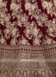 Heavy Embroidery Maroon Lehenga Choli