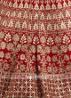 Heavy Embroidery Red Lehenga Choli for Bridal