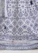 white printed lehenga choli