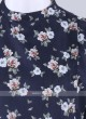 flower printed blue kurta