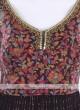 Wine Color Anarkali Suit with dupatta
