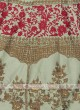Pista green and gajari pink lehenga choli suit