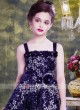 Navy Blue Flare Girls Party Gown