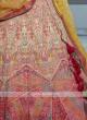 Multi-color silk lehenga