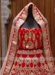 designer Red heavy work bridal lehenga choli
