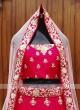 beautiful deep pink color bridal lehenga choli